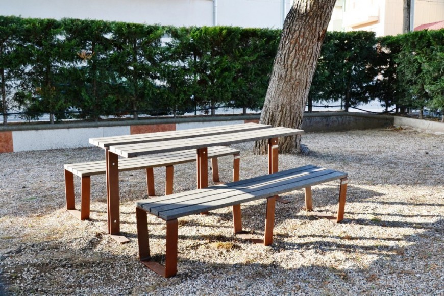 Aalb Bench without a back rest