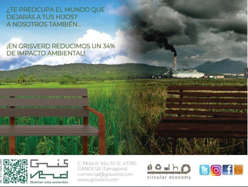 mobiliario exterior urbano sostenible